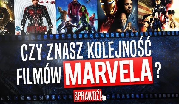 Czy znasz kolejność filmów Marvela?