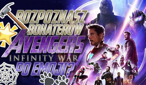 """Rozpoznasz postacie z """"Avengers: Wojna bez granic"""" po emoji?"""