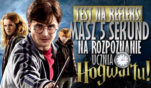 Test na refleks. Masz 5 sekund na rozpoznanie ucznia Hogwartu!