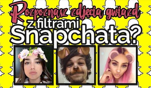 Rozpoznasz zdjęcia gwiazd z filtrem ze Snapchata?