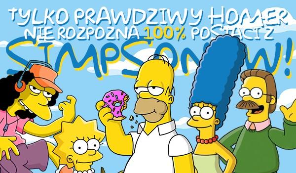 Tylko prawdziwy Homer nie rozpozna 100% postaci z Simpsonów!