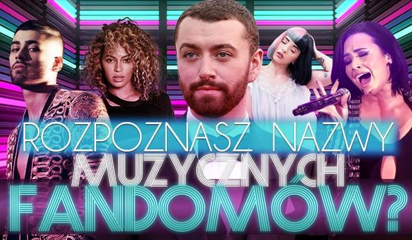 Zgadywanka – Nazwy muzycznych fandomów!