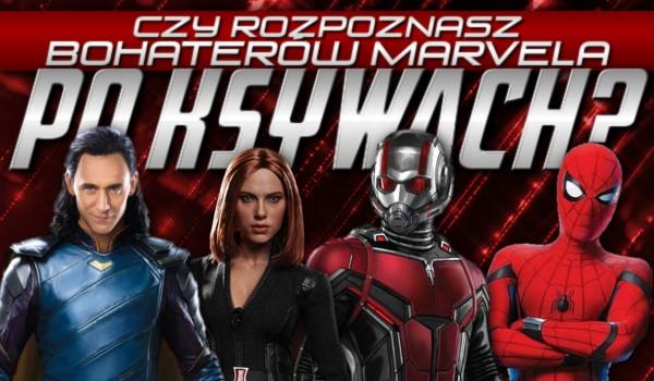Czy rozpoznasz bohaterów z Marvela po ksywach?
