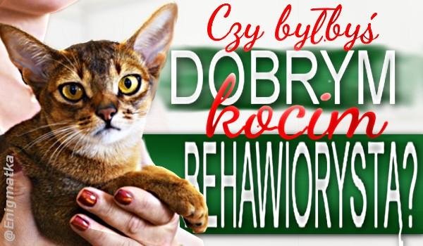 Czy byłbyś dobrym kocim behawiorystą?
