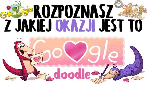 Rozpoznasz, z jakiej okazji jest to Google Doodle?
