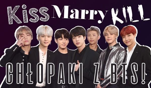 BTS głosowanie: pocałuj, poślub, zabij!