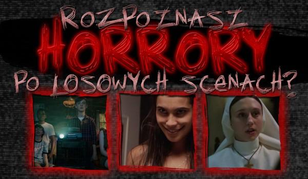 Rozpoznasz horrory poprzez losową scenkę?