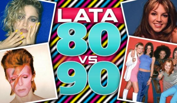 Muzyczne głosowanie: Lata 80' vs 90'!