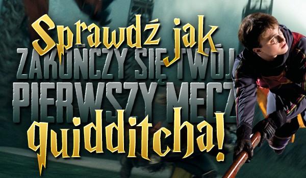 Jak zakończy się Twój pierwszy mecz Quidditcha?