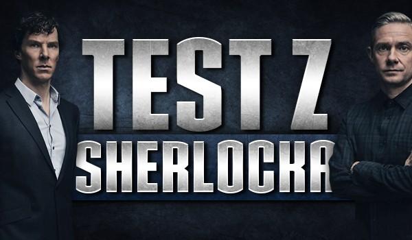 Test z Sherlocka.