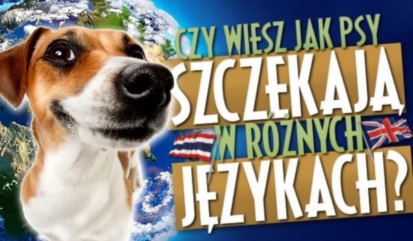 Czy wiesz, jakie dźwięki wydają psy w innych językach?