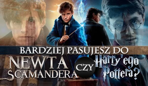 Bardziej pasujesz do Harry'ego Pottera czy Newta Scamandera?