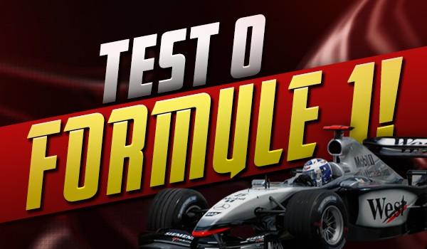 Test o Formule 1!