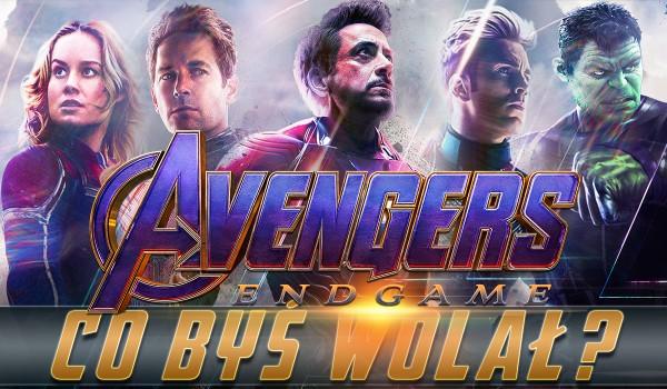"""""""Avengers: Koniec gry"""" – co byś wolał?"""