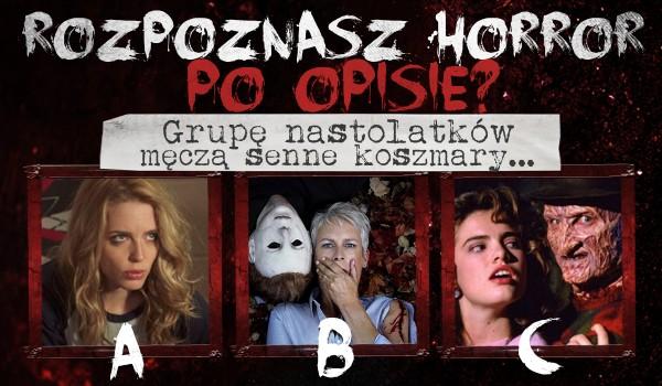 Rozpoznasz horror po opisie?
