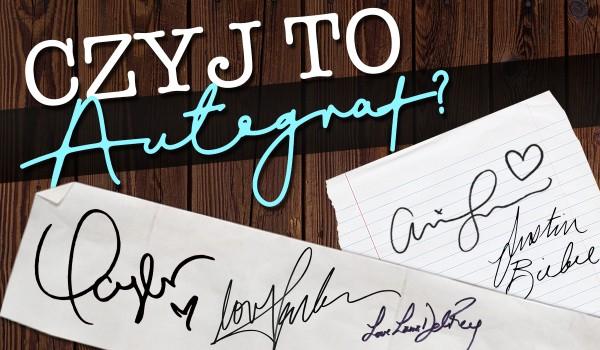 Czyj to autograf?