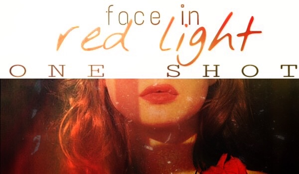 face in red light