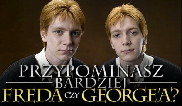 Przypominasz bardziej Freda czy George'a?