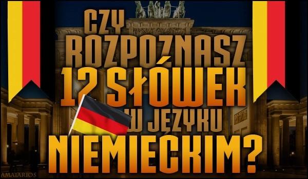 Czy rozpoznasz 12 słówek w języku niemieckim?