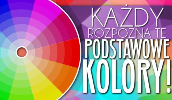 Każdy rozpozna te podstawowe kolory!