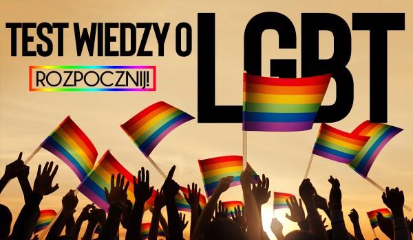 Test wiedzy o LGBT