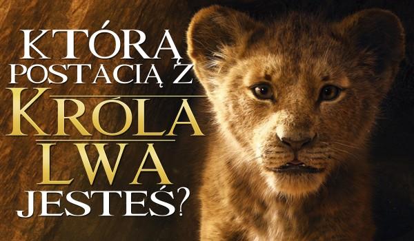 """Którą postacią jesteś z """"Króla lwa""""?"""