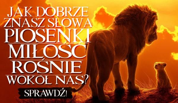 """Jak dobrze znasz słowa piosenki """"Miłość Rośnie Wokół Nas""""?"""