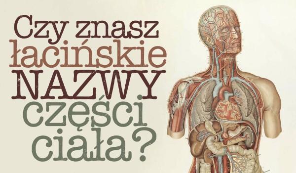 Czy znasz łacińskie nazwy części ciała?