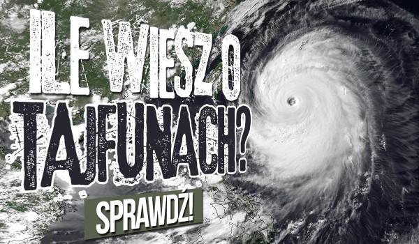 Ile wiesz o tajfunach?