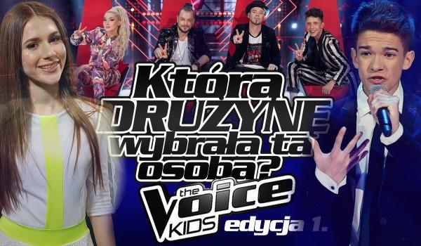 """Jaką drużynę wybrała ta osoba w """"The Voice Kids""""? – 1. edycja!"""