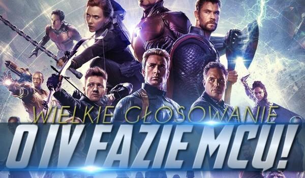 """Wielkie głosowanie o czwartej fazie """"Marvel Cinematic Universe""""!"""