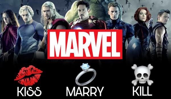 Kiss, marry, kill — Marvel