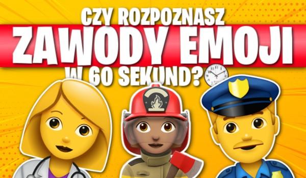 Czy rozpoznasz te zawody emoji w 60 sekund? Sprawdź!