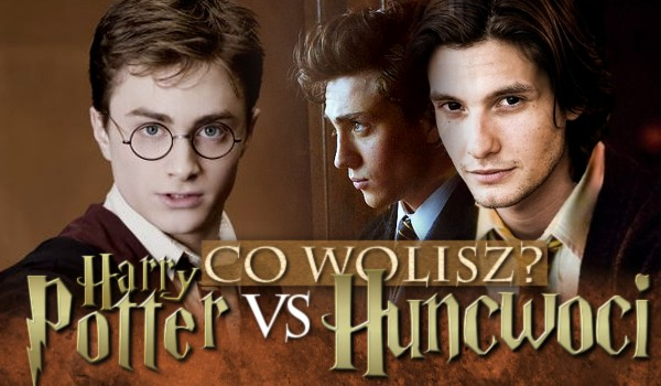 """20 pytań z serii """"Co wolisz?"""" HUNCWOCI VS. HARRY POTTER!"""
