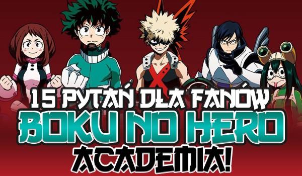 """15 pytań """"Kogo wolisz?"""" dla fanów """"Boku no Hero Academia""""!"""