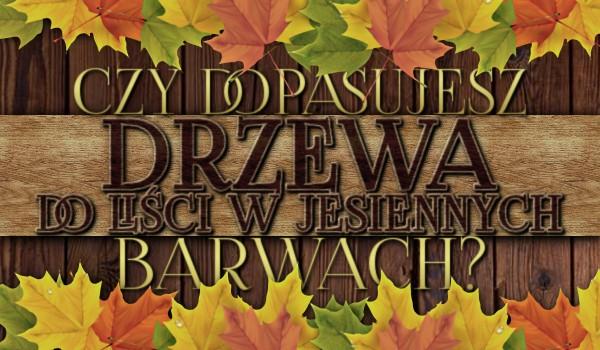 Czy dopasujesz drzewa do liści w jesiennych barwach?