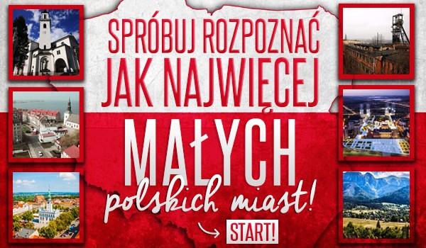 Spróbuj rozpoznać jak najwięcej małych polskich miast!