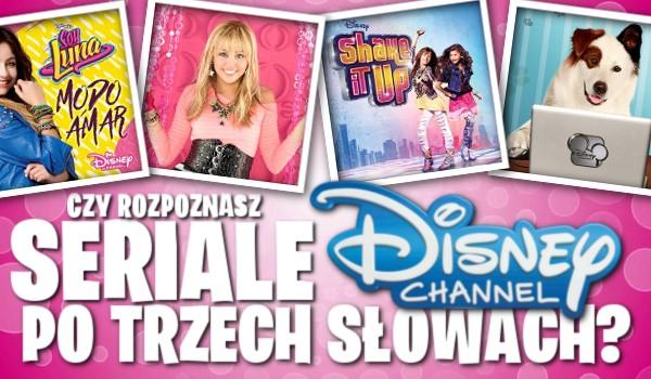 Rozpoznasz seriale Disney Channel po trzech słowach?