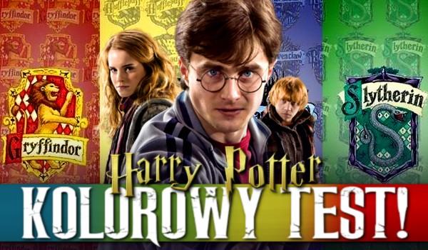 Kolorowy test – Harry Potter!