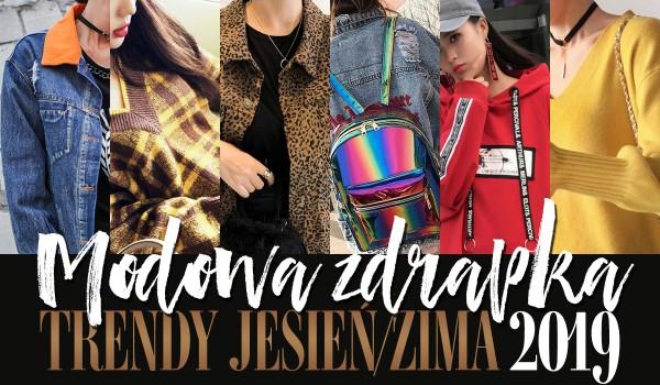 Modowa zdrapka: trendy jesień-zima 2019!