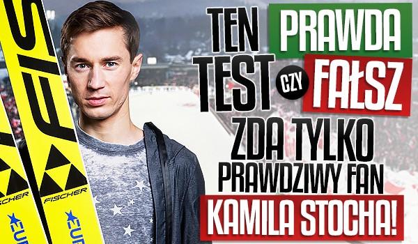 """Ten test """"Prawda czy Fałsz"""" zda tylko prawdziwy fan Kamila Stocha!"""