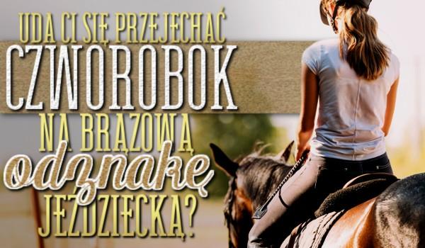 Uda Ci się przejechać czworobok na Brązową Odznakę Jeździecką?