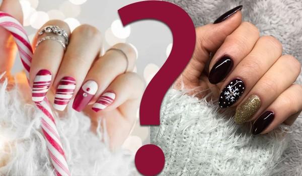 Które świąteczne paznokcie są ładniejsze? Głosowanie!