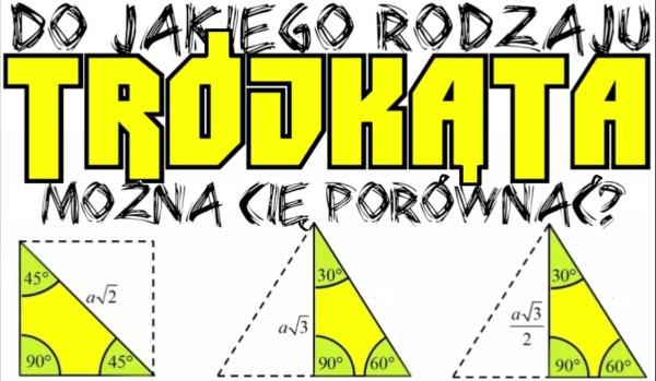 Do jakiego rodzaju trójkąta można Cię porównać?