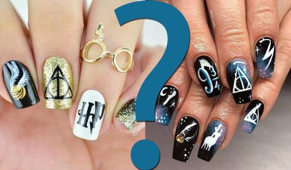 Które paznokcie z wzorami tego fandomu są ładniejsze? — Harry Potter!