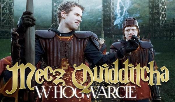 Zdrapka: Mecz quidditcha w Hogwarcie.