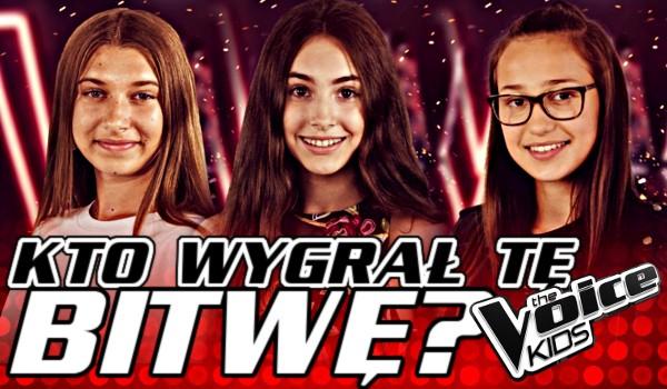 Kto wygrał tą bitwę? – The Voice Kids 3!