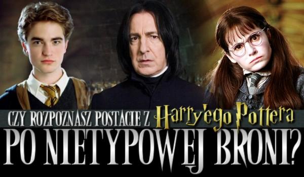 """Rozpoznasz postacie z """"Harry'ego Pottera"""" po nietypowej broni?"""