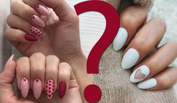 Które paznokcie z motywem walentynkowym są ładniejsze?
