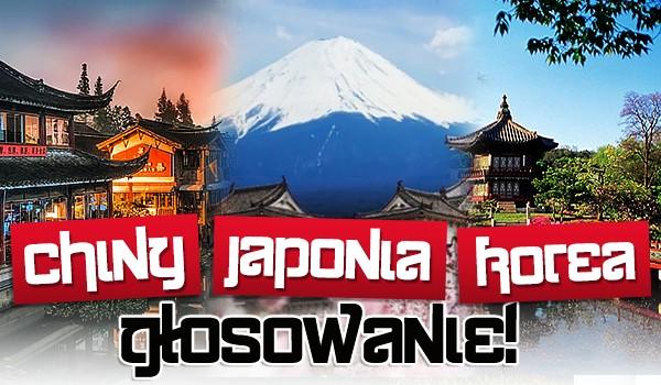 Chiny, Japonia czy Korea? – Głosowanie!